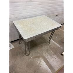 "1950's Arborite Draw Leaf Table 42"" X 49"" Closed"