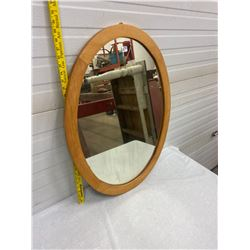 Oval Mirror - Maple Frame