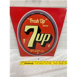 7UP Sign Reproduction - Embossed