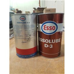 2X Esso Empty D-3 Qt. Tin Cans
