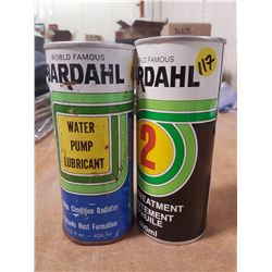 2X Full Bardahl Additive Tin Cans