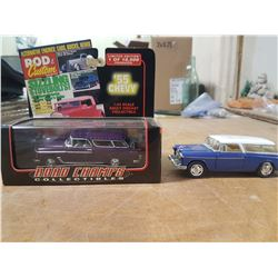 2X 1955 Chevy Nomad Wagon 1:43 Scale