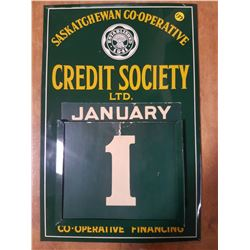 Mint 1956 Sask. Coop Perpetual Calendar (All Pieces There)