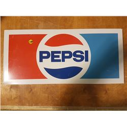 Vintage Pepsi Cola Steel Rack Sign