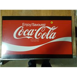 Coca-Cola Steel Display Sign