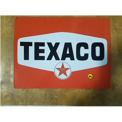"Embossed Texaco Tin Sign 17"" X 13"" (Reproduction)"