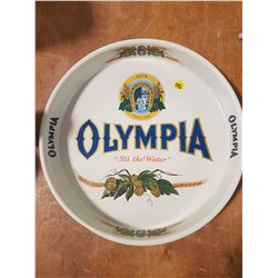 Near Mint Olympia Beer Steel Tray 13""