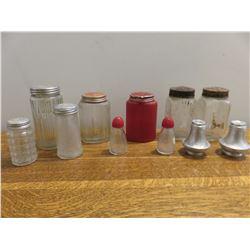 Misc. Vintage salt & pepper shakes, spice etc.