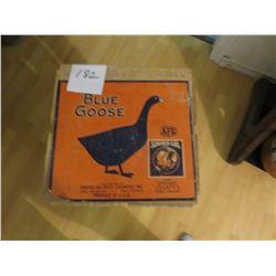 Blue goose fruit box