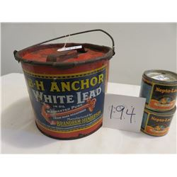 Old paint cans, great graphics