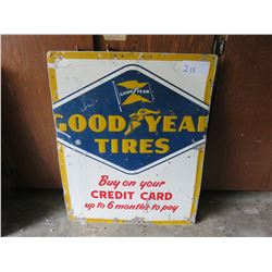 Metal good year sign, raised letters '60s  20 x 30