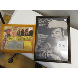 Roy Rogers picture and lobby sign