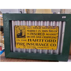 HARTFORD FIRE INSURANCE CO. SIGN (NOT REPRO)