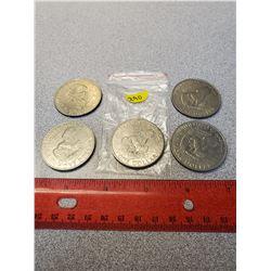 5 - $1.00 American 1971 X5