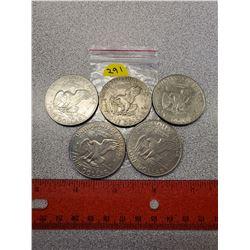 5 - $1.00 American 1972 X4, 1974