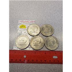 5 American $1.00 1976