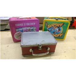 3 TIN LUNCH BOXES