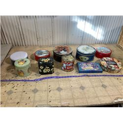 10 ASSORTED TINS