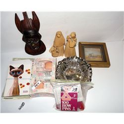 Picture/Cat Cards/Cat Pin/Straw Dolls/Carved Mask/Bow Maker