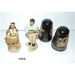 Hawaii and Greece Salt & Pepper Shakers