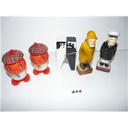 Scottish, Clothespin, Sea Captain Salt & Pepper Shakers