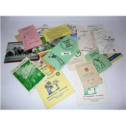 Variety of Golf Course Score Cards from 1970s & 80s
