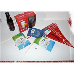 2010 Torch Relay Flags, Coke Bottle, Coke Glasses