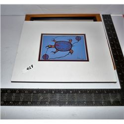 "Original Australian 'Roo Dot Art Painting Signed Allan; Wolf Morrisseau Print ""Sea Turtle"""