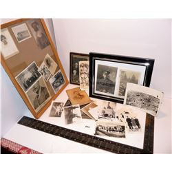 Old Framed Pictures, Loose Photos, Soldiers, War