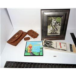 Photo Frame, 3 Piece Purse, Vintage Handkerchiefs (Caswell Box), Grandma Pic