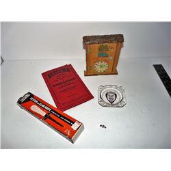Vintage Oyster Knife, Saskatoon City Map, Ashtray, Note Pad Holder Iron Bridge Canada (Ontario?)