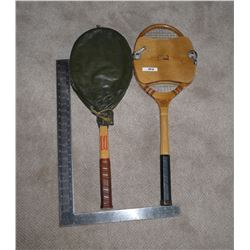 Vintage Tennis Raquets (2) Spalding and Golden Cup