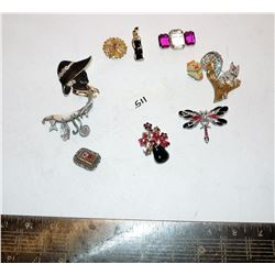 Assortment of Pins, Brooches