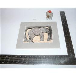 Elephant Picture & Figurine (Enesco)