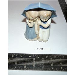 Vintage Grafenthal Carl Schneider Erben (?) Porcelain Boy & Girl Under Umbrella
