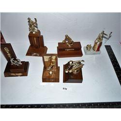 Vintage Curling Trophies