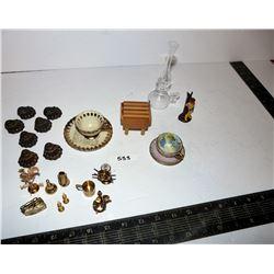 Vintage Miniature Brass & Glass