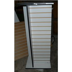 """Rotating  Display Stand Approximately 4' 5"""" High With Storage In Centre"""