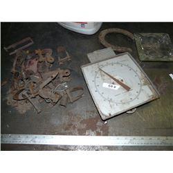 Buggy Parts, Horseshoe, Scale, etc.