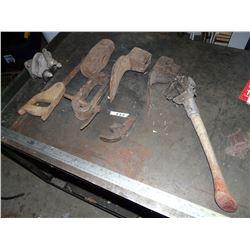 Hammer, Grub Hoes,  Saw, etc.