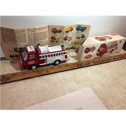 Mint in box Tonka pumper with catalogue