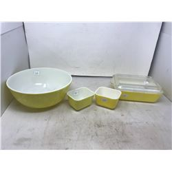 Vintage Pyrex Dishes - Butter Dishes, Bowl, Casserole With Lid