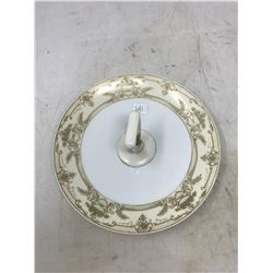 Noritake Sandwich Dish With Gold Trim