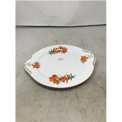 Saskatchewan Prairie Lily Cream & Sugar Plus Cake Plate
