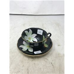 """""""Occupied Japan"""" Floral Cup & Saucer"""