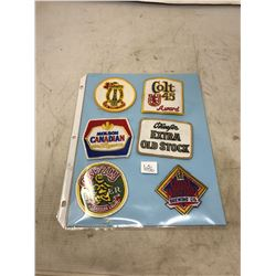 Vintage N.O.S. Never Used Canadian Beer - Cloth Patches - Crests