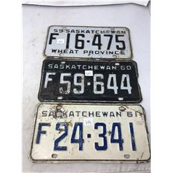 1959-60-61 Saskatchewan Farm Plates