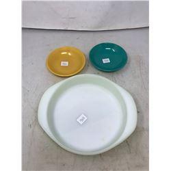 Pyrex Baking Dish, Lime Green WHL (2) Anchor Hocking Small Bowls
