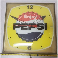 Pepsi Clock - working, was hanging in glass shop in Prince Albert for many years