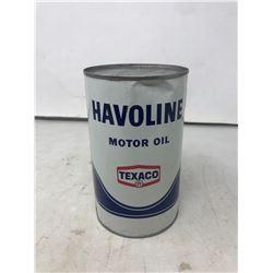 Texaco Havoline Oil Tin - Unopened